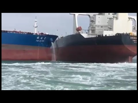 Ship Collision Near Miss BEST EVER