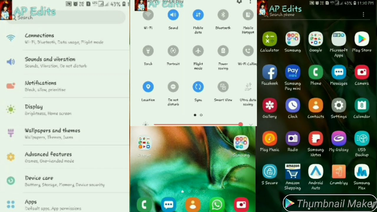 Install Latest S10 Plus One UI Day Pie Theme In any Samsung