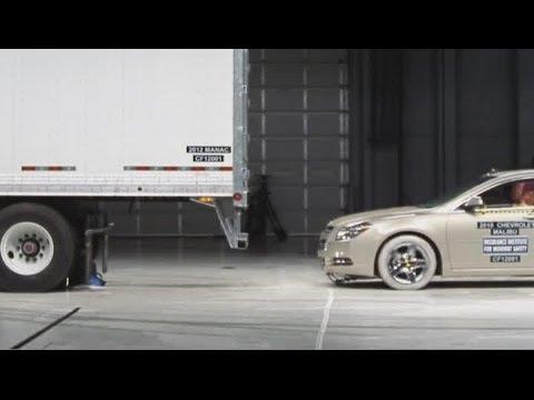 Trailer underride bar crash tests