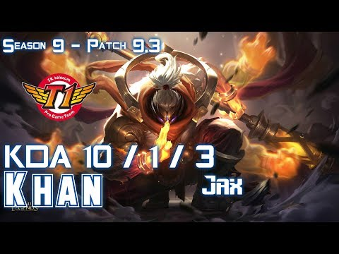 SKT  Khan JAX vs YORICK Top - Patch 9.3 KR Ranked