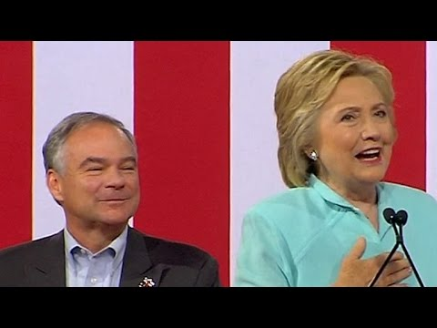 Hillary Clinton introduces Tim Kaine as her running mate