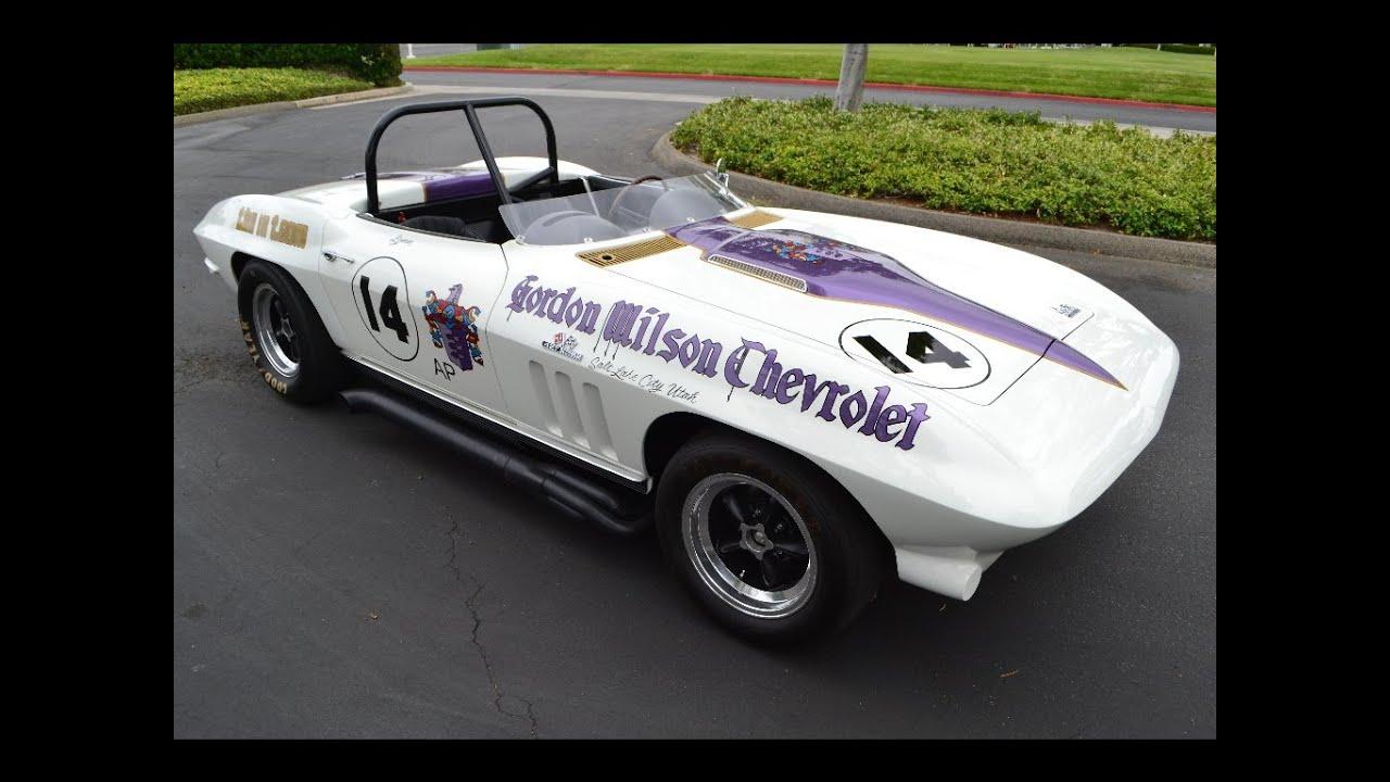 SOLD 1966 Chevrolet Corvette Historic Race Ca Roadster White/Purple