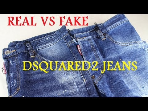 99f2a8c4 REAL VS FAKE DSQUARED2 JEANS LEGIT CHECK - YouTube