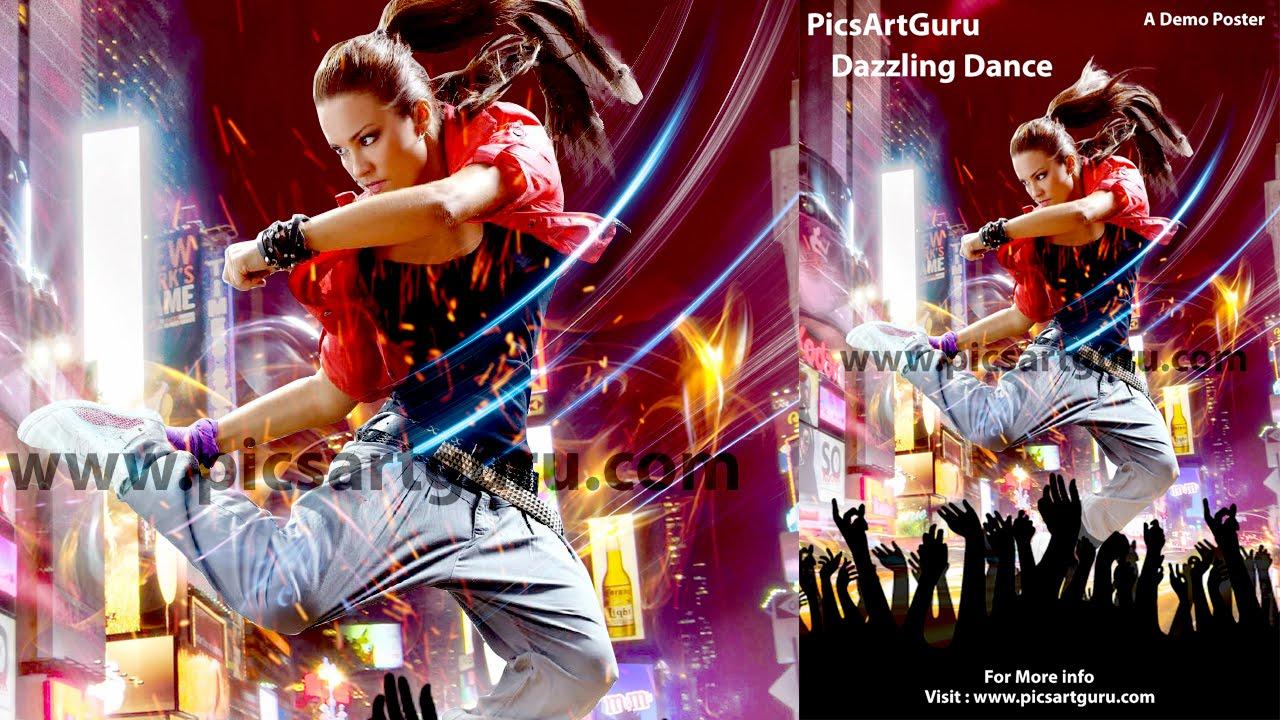 Make a poster design - Picsart Tutorial How To Make Dazzling Dance Photo Poster Using Picsart App Picsart Poster Design