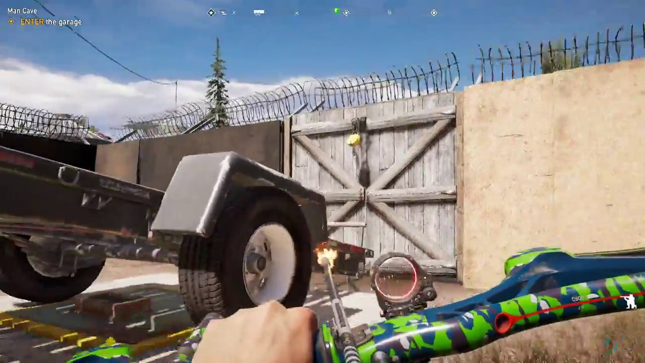 Man Cave Holland Valley : Far cry enter the garage man cave youtube