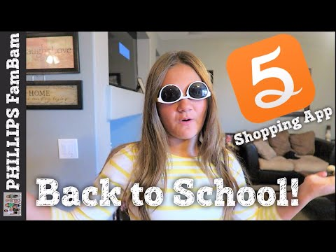 OUTFIT OF THE DAY | 5MILES BACK TO SCHOOL THRIFTY SHOPPING APP | PHILLIPS FamBam Vlogs