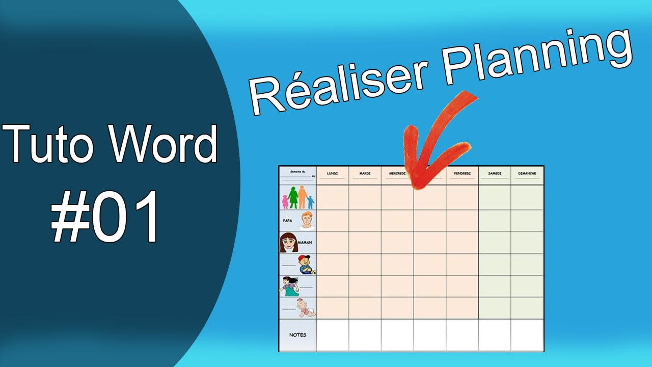 Apprendre word ep 01 r aliser un planning professionnel for For planner