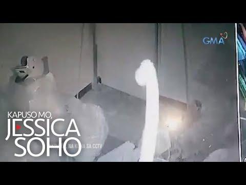 Kapuso Mo, Jessica Soho: Lumilipad na ahas, nakunan daw ng CCTV?!