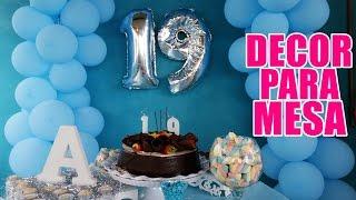 Decoração de mesa para aniversário! #VEDA12