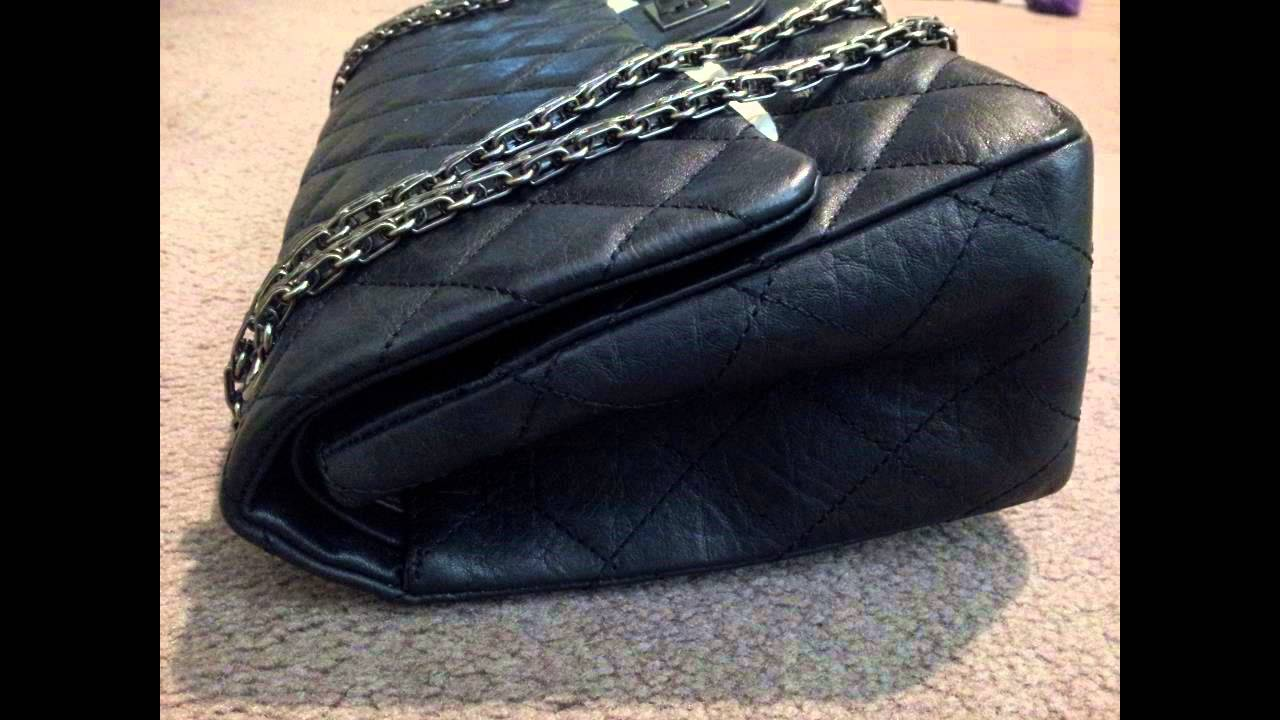36603b0051f4db Chanel 227 Distressed Calf Leather Review - purchased from my best ...