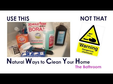 Say NO! To Chemicals ||  Natural Ways to clean your Home || The Bathroom || With extra Grime!