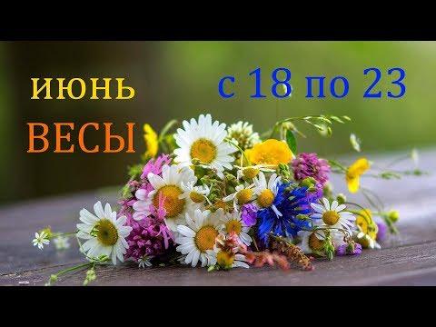 ВЕСЫ. ГОРОСКОП на НЕДЕЛЮ с 18 по 23 ИЮНЯ 2019 г.