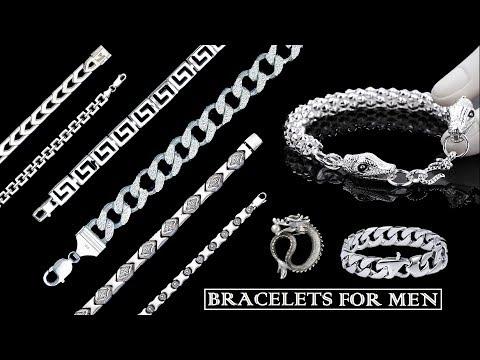 Silver Bracelet Designs for Mens