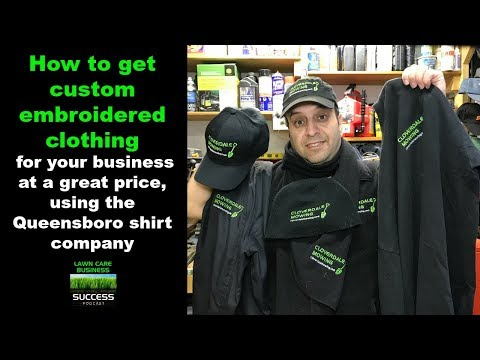 How to get custom embroidered clothing for your business at a great price using the Queensboro shirt