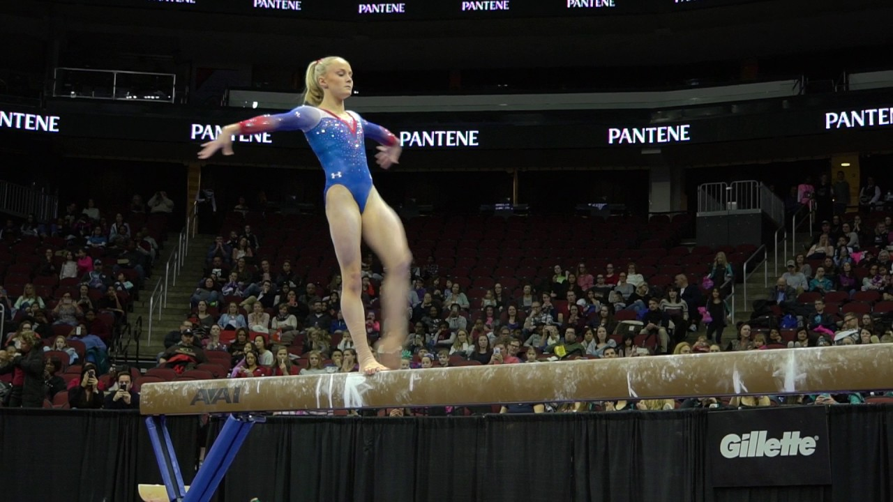 riley mccusker usa balance beam atu0026t american cup usa gymnastics