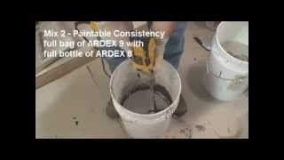 ARDEX 8+9™ Rapid Waterproofing and Crack Isolation Compound - Demonstration