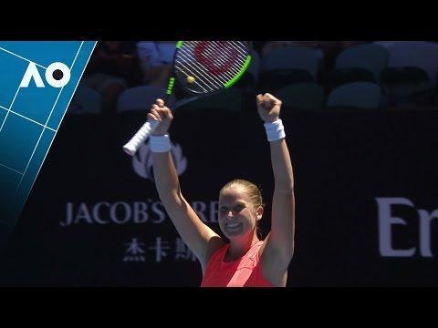 Halep v Rogers match highlights (1R) | Australian Open 2017