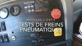 Tests de freins pneumatiques (de type MiRAÉSSA)