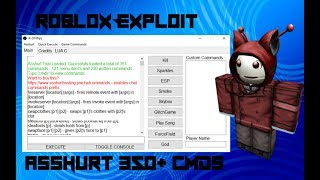 Roblox Hack/Exploit:Asshurt(Trial)Lua C, 340+ CMDS, And More!