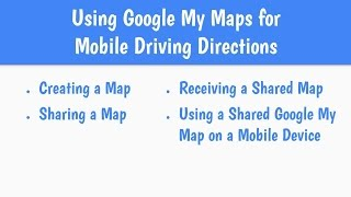 Driving Directions Using Google My Maps Free HD Video