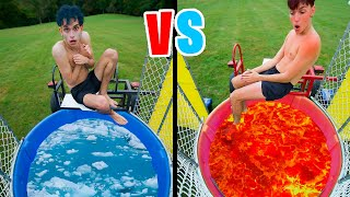 HOT vs COLD DUNK TANK Challenge!