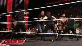 The Shield vs. Evolution WWE Payback contract signing: Raw, May 26, 2014