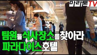 [마라톤톡 511] 팀원들 식사장소 파라다이스 호텔 회…