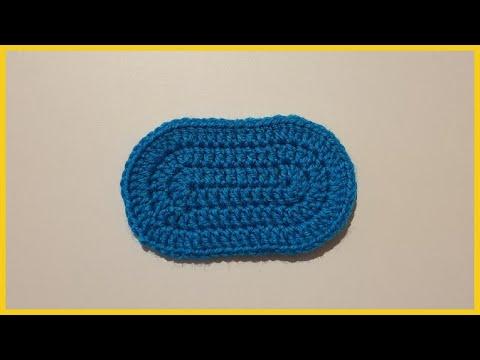 Подошва для пинетки. Вязание крючком / Crochet Sole Booties