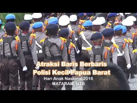 Great attraction of children police from west papua indonesia