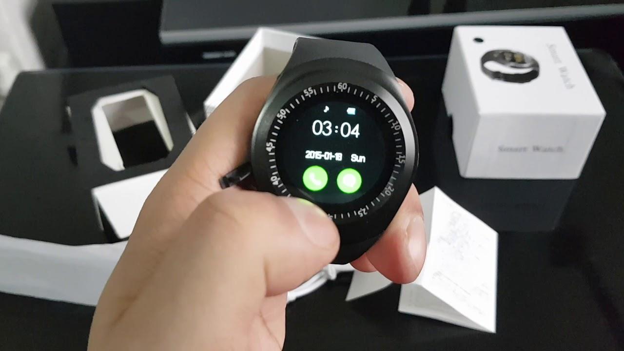 Y1 Smart Watch   Unboxing