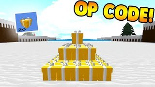 *NEW* OP CHRISTMAS CODE! | Build A Boat For Treasure ROBLOX