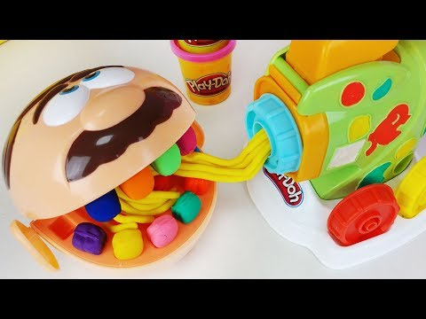Play-doh Dentista and play doh spaghetti maker cooking toys baby Doll play 플레이도우 스파게티 만들기 장난감 - 토이몽