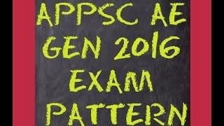 appsc ae general 2016 exam pattern