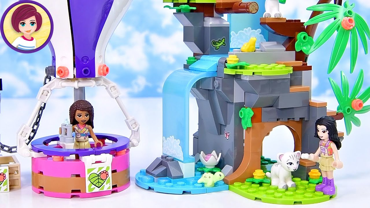Lego Friends Tiger Hot Air Balloon Jungle Rescue Build & Review