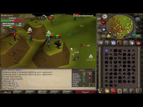 Low Level F2P Pking Commentary #1 - OSRS