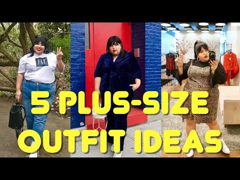 5 casual plus size outfit ideas. http://bit.ly/2KBtGmj