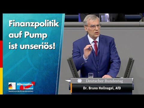 Finanzpolitik auf Pump ist unseriös! - Bruno Hollnagel - AfD-Fraktion im Bundestag