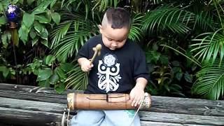 Healing Drum, Teponazli, Bamboo Slit Drum made by Mother Earth Art for sale on Etsy