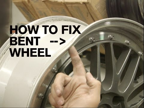 Rim Repair Cost >> How To Properly Repair A Bent Wheel Youtube
