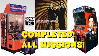 Sega's CONFIDENTIAL MISSION! Arcade Game Complete Play Through!
