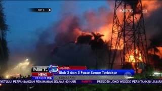 25 Unit Pemadam Kebakaran Diterjunkan Atasi Kebakaran di Pasar Senen - NET5