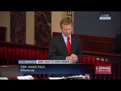 Sen. Rand Paul Speaks On Resolution to Block $1.15 Billion Saudi Arms Sale