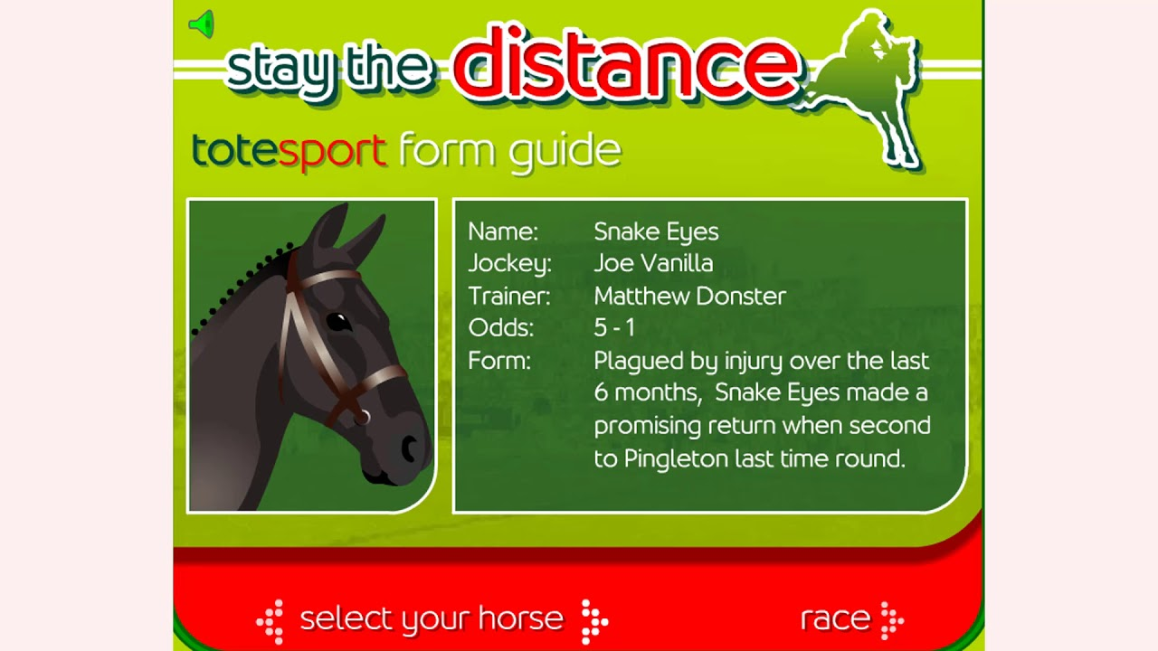 How To Play Stay The Distance Horse Racing Game Free Online Games Mantigames Com Youtube