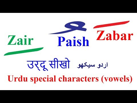 Learn Urdu through Hindi Lesson 2 Vowels Special characters | Urdu language  for beginners