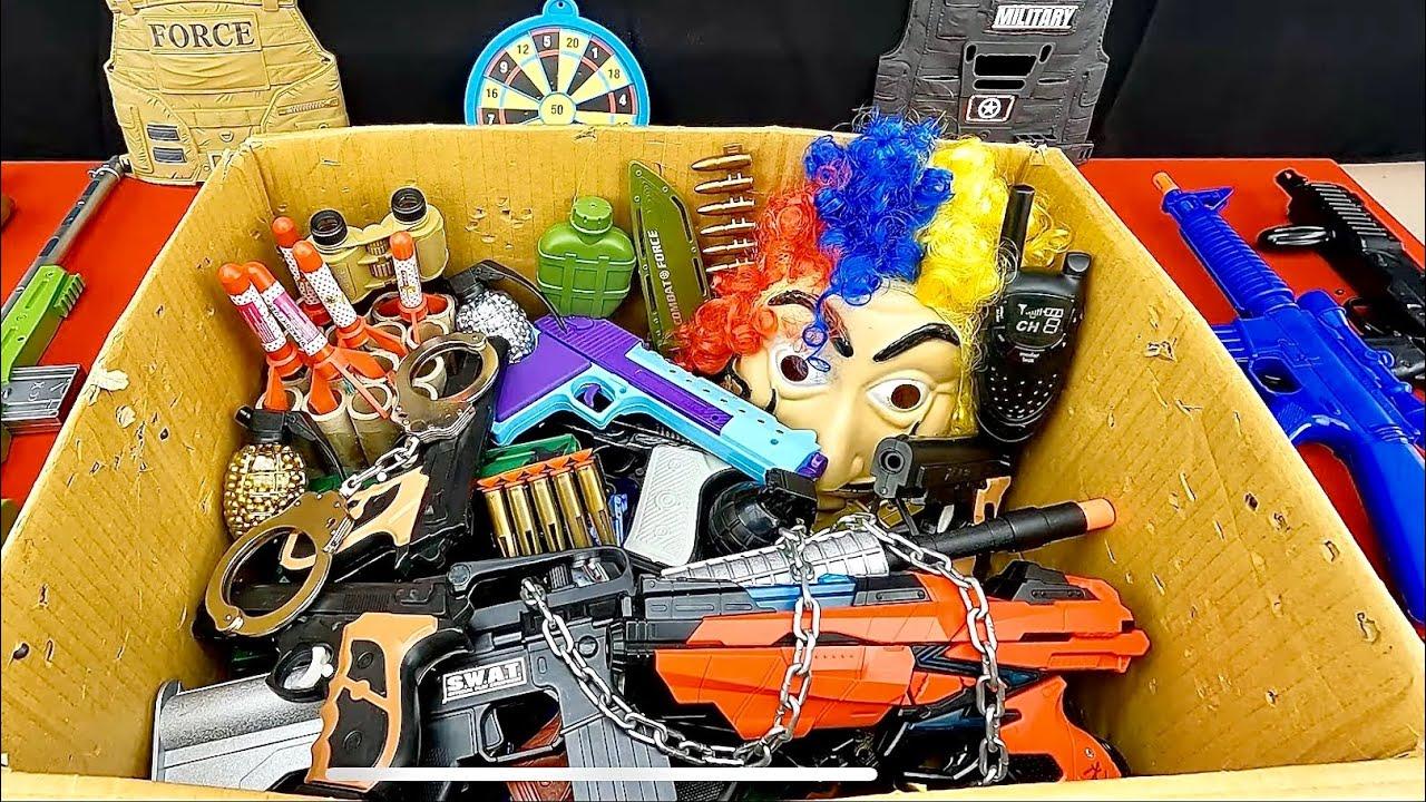 Box of Toy Guns, La Casa Papel Mask, Soft Bullet Shooting Guns, and Army Special Ammunition