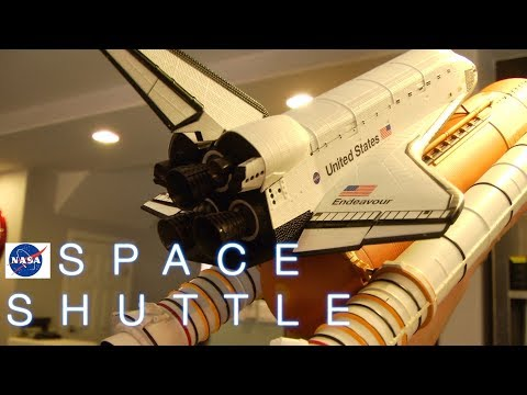 NASA Space Shuttle Endeavour Die-cast Chogokin Tamashii Nations Bandai Review unboxing part 1