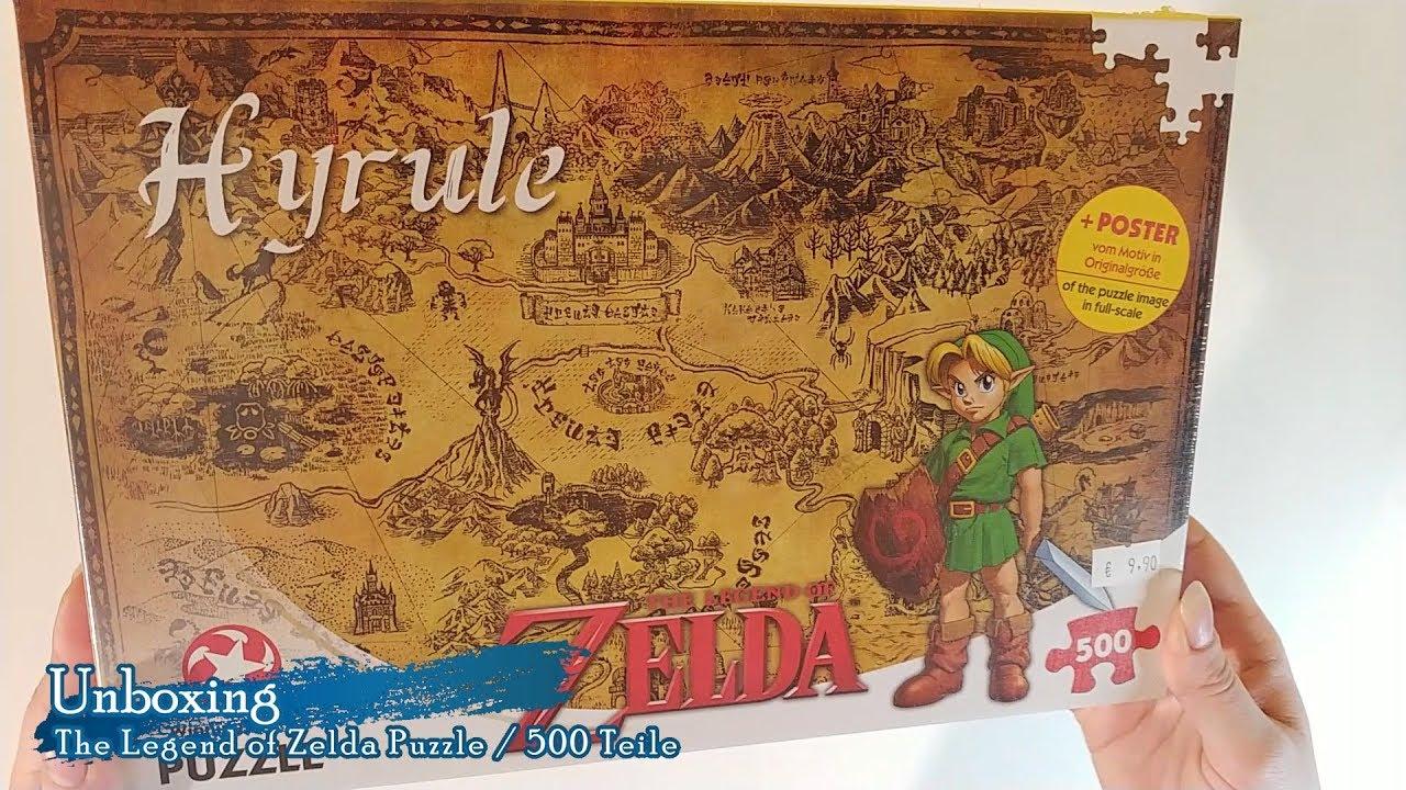 Unboxing Timelapse The Legend Of Zelda Hyrule Puzzle 500 Teile