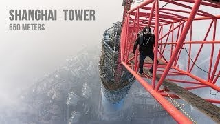 Shanghai Tower (650 meters)(Today we will show you how to climb on second tallest building in the world. Shanghai Tower, China. Contacts: mail@ontheroofs.com Music: N'to - Trauma ..., 2014-02-12T09:18:58.000Z)