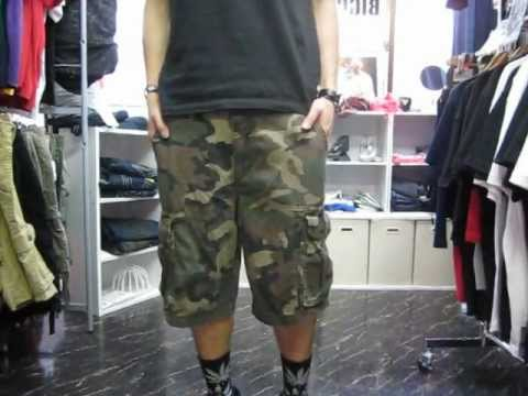 8e07b10448 OLDNAVY Cotton Cargo Shorts (Green Camo) オールドネイビー GAP メンズ 4,500円