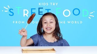 Kids Try Street Food from Around the World | Kids Try | HiHo Kids